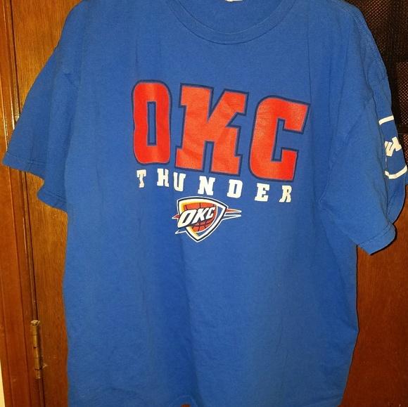 best website dad0b 75b1a Lot of 6 blue OKC Thunder playoff t-shirts